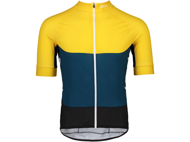 POC Essential Road Maillot léger Homme, sulphite yellow/draconis blue